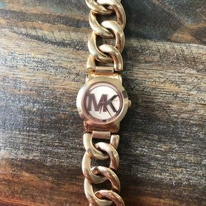 Michael Kors rose gold chain watch